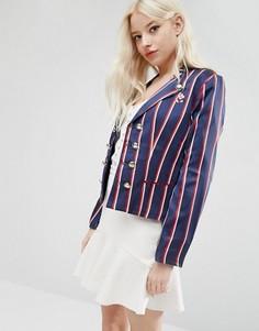 Университетский пиджак в полоску Sister Jane - Мульти