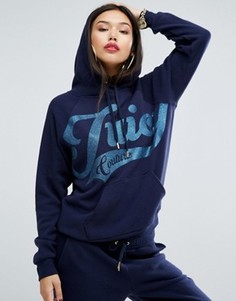 Флисовое худи Juicy Couture - Темно-синий