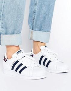 Белые кроссовки с принтом adidas Originals Superstar - Белый
