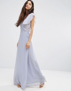 Платье макси с запахом Oh My Love - Синий
