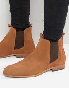 Замшевые ботинки челси Zign - Рыжий