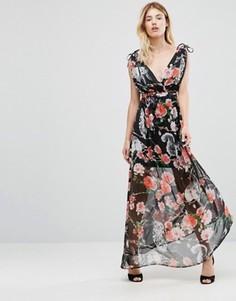 Платье макси с принтом лес Traffic People - Черный