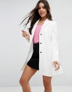 Свободное пальто ASOS - Кремовый