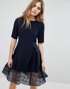 Платье с кружевной отделкой Traffic People Hepburn - Темно-синий