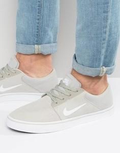 Бежевые кроссовки Nike SB Portmore 725027-011 - Бежевый