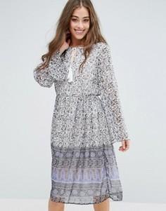 Платье миди с цветочным принтом Vero Moda Stella - Мульти