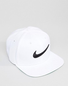 Белая бейсболка с галочкой Nike 639534-100 - Белый