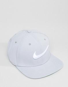 Серая бейсболка с галочкой Nike 639534-014 - Серый