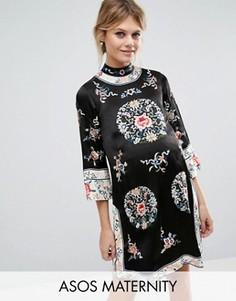 Цельнокройное платье для беременных с вышивкой ASOS Maternity - Мульти