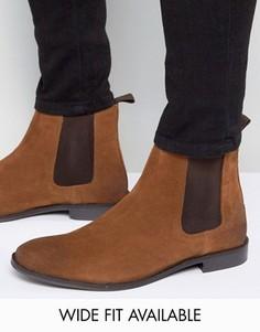 Светло-коричневые замшевые ботинки челси ASOS - Доступна модель для широкой стопы - Рыжий
