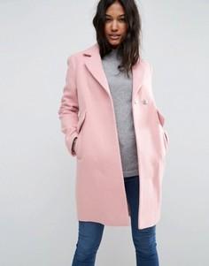 Узкое пальто с карманами ASOS - Розовый