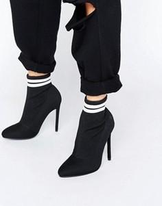 Полусапожки с эластичной вставкой в виде носка ASOS EKRON - Черный