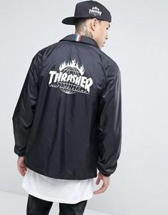 Спортивная куртка с принтом на спине HUF x Thrasher - Черный