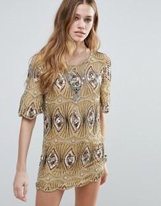 Платье‑туника с отделкой Raga Sarah - Желтый