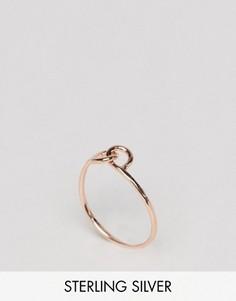 Серебряное кольцо с позолотой из розового золота ASOS - Медный