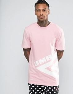 Футболка с большим логотипом House Of Holland x Umbro - Розовый
