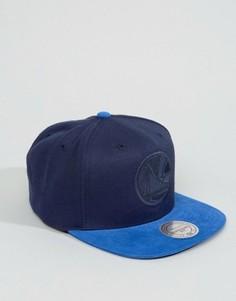 Бейсболка с вельветовым козырьком Mitchell & Ness - Темно-синий