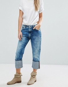 Укороченные джинсы с отворотами Pepe Jeans Donna - Синий