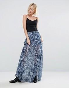 Юбка макси с принтом Pepe Jeans Morina - Синий