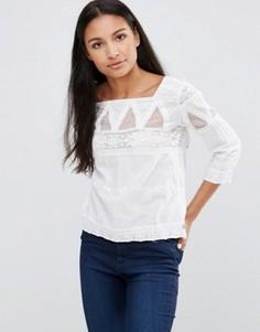Блузка с вышивкой Pepe Jeans Dolina - Белый