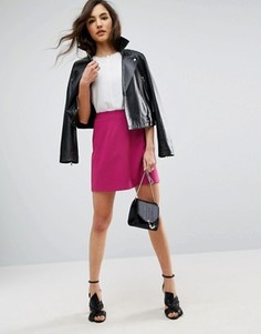 Мини-юбка A-силуэта ASOS - Розовый