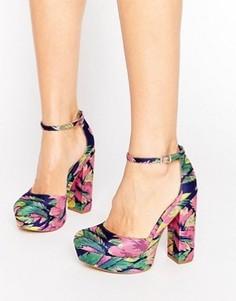 Туфли на блочном каблуке и платформе ASOS PARODY - Мульти