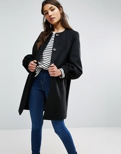 Свободное пальто с рукавами‑колокол ASOS - Черный