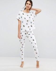 Пижамный комплект с принтом жуков ASOS - Мульти