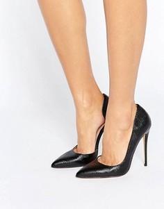 Черные туфли-лодочки с вырезами Lost Ink Fifi - Черный