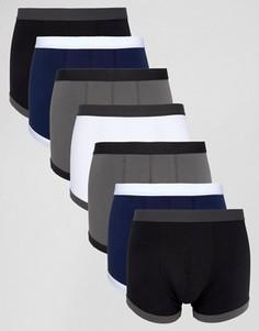 Набор из 7 боксеров-брифов синего и серого цвета ASOS - СКИДКА - Мульти