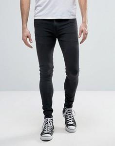 Ультразауженные черные джинсы скинни New Look - Черный