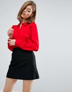 Блузка с оборками ASOS - Красный