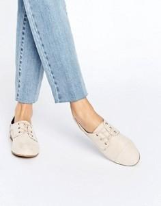 Туфли на шнуровке и плоской подошве ALDO Noresen - Бежевый