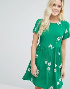 Приталенное платье Little White Lies Daisy Age - Зеленый