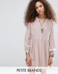 Короткое приталенное платье со складками Glamorous Petite - Розовый