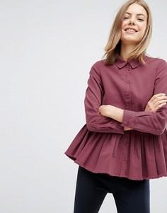 Джинсовая рубашка ASOS - Красный