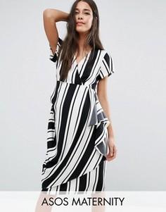 Платье в полоску для беременных ASOS Maternity - Мульти