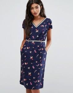 Цельнокройное платье Trollied Dolly - Темно-синий