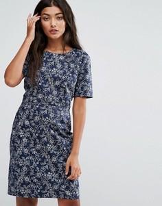 Платье с цветочным принтом Trollied Dolly Shifty Sista - Синий