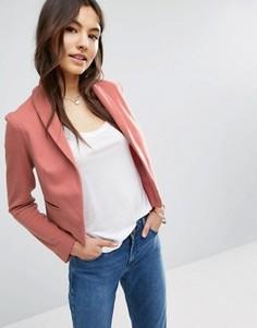 Пиджак из ткани понте с шалевым воротником ASOS - Розовый