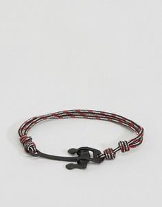 Красный веревочный браслет с якорем Icon Brand Alton - Красный