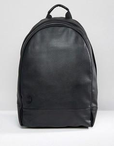 Черный рюкзак размера XL из зернистой кожи Mi-Pac - Черный