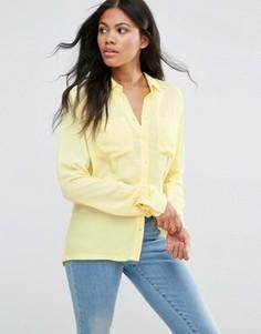 Рубашка с карманами Vila - Желтый