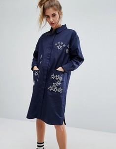 Платье-рубашка ZIZTAR Zuper Ztarz - Синий