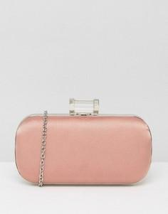 Розовый атласный клатч True Decadence - Розовый