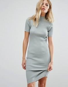 Трикотажное платье-джемпер в рубчик Noisy May - Синий