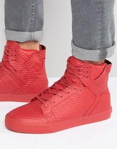 Высокие кроссовки Supra Skytop - Красный