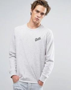 Лонгслив с маленьким логотипом Brixton Reggie - Серый