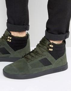 Замшевые кроссовки средней высоты Supra Bandit - Зеленый