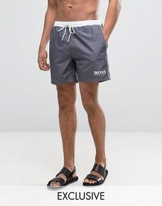 Серые шорты для плавания эксклюзивно для BOSS By Hugo Boss Star Fish - Серый